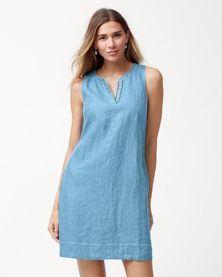 Main Image for Sea Glass Linen Shift Dress