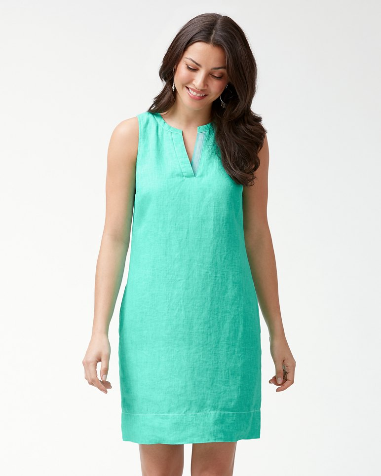 Main Image for Sea Glass Linen Shift Dress