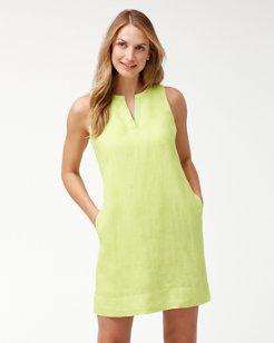Sea Glass Linen Shift Dress