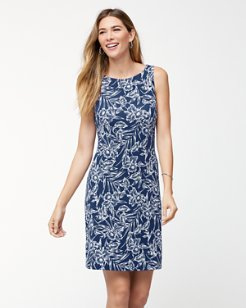 Mar-A-Sketch Tambour Shift Dress