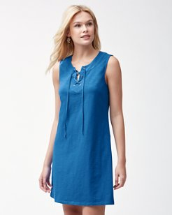 Jer-Sea Tie-Front Dress