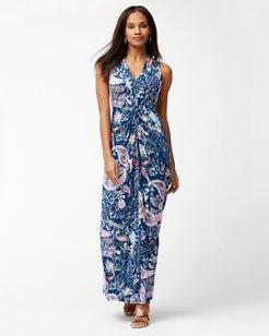 Paisley Promenade Tambour Maxi Dress