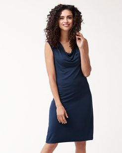 IslandZone® Jersey Cowl-Neck Dress