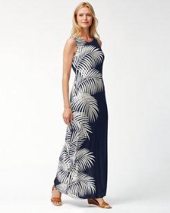 Gentlemen Prefer Fronds Tambour Maxi Dress
