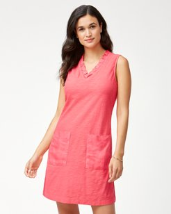 Arden Ruffle Neck Shift Dress
