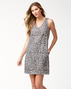 Cat's Meow Linen Shift Dress
