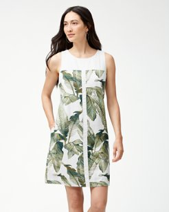 Fiesta Palms Linen-Blend Shift Dress