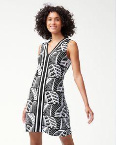 20ee0bc4c5 Leaf Line Tambour V-Neck Shift Dress