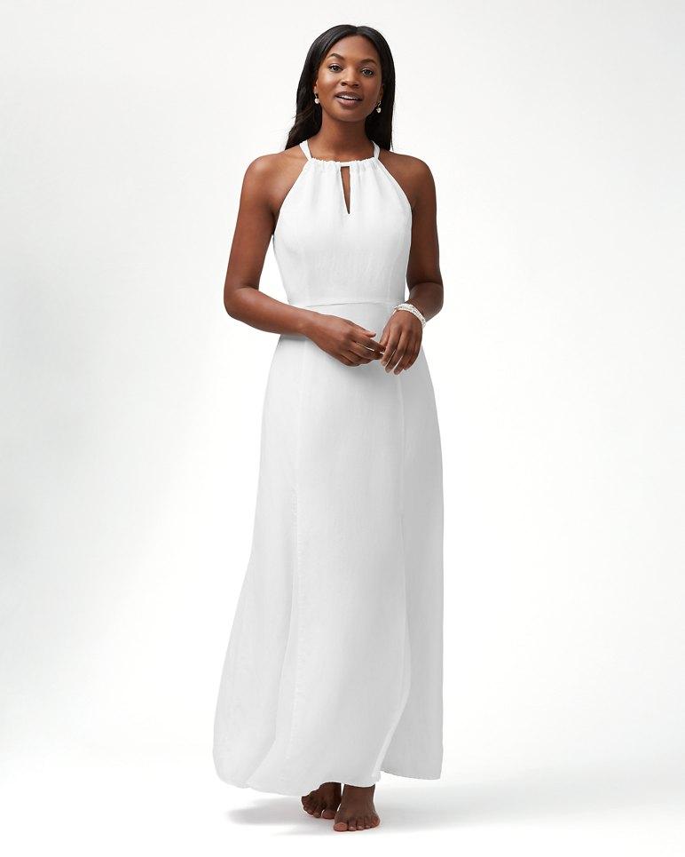 Main Image for Sunrise Twill Linen-Blend Godet Maxi Dress
