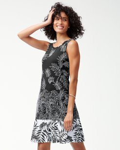 Fronds Have More Fun Ponte Flounce Dress