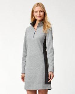 Flip Side Reversible Half-Zip Dress