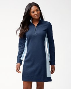 Flip Side Reversible Half-Zip Dress