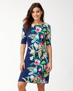 Tropicalia Tambour Shift Dress