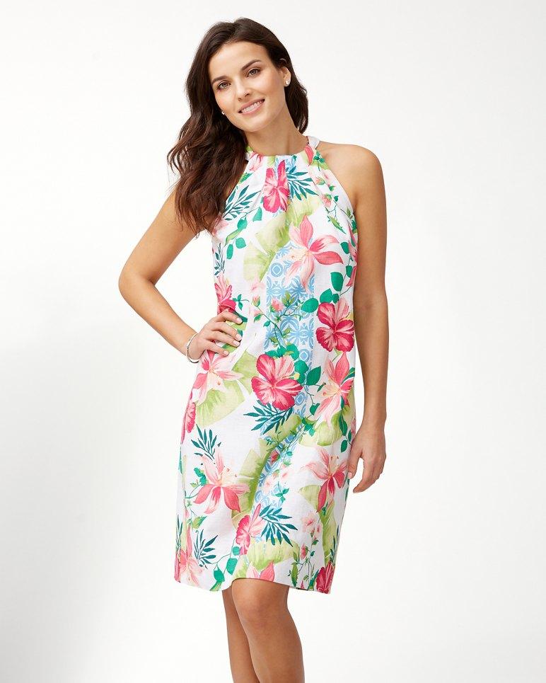 Main Image for Lava Actually Linen-Blend Halter Dress