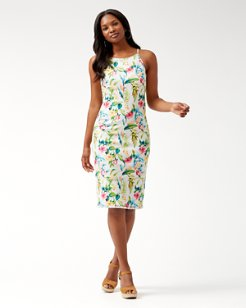 bbde22b46d Tropicalia Denim Midi Dress