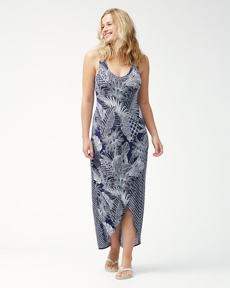 Main Image for Lava Cove Mix Print Tambour Maxi Dress