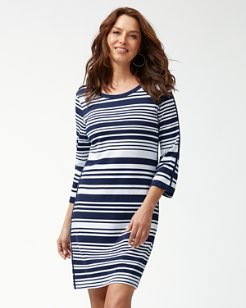 Knotty Stripe Pima Cotton Shift Dress