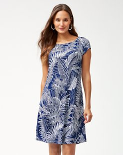 Lava Cove Tambour Short-Sleeve Dress