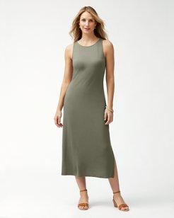 Tambour Sleeveless Midi Dress