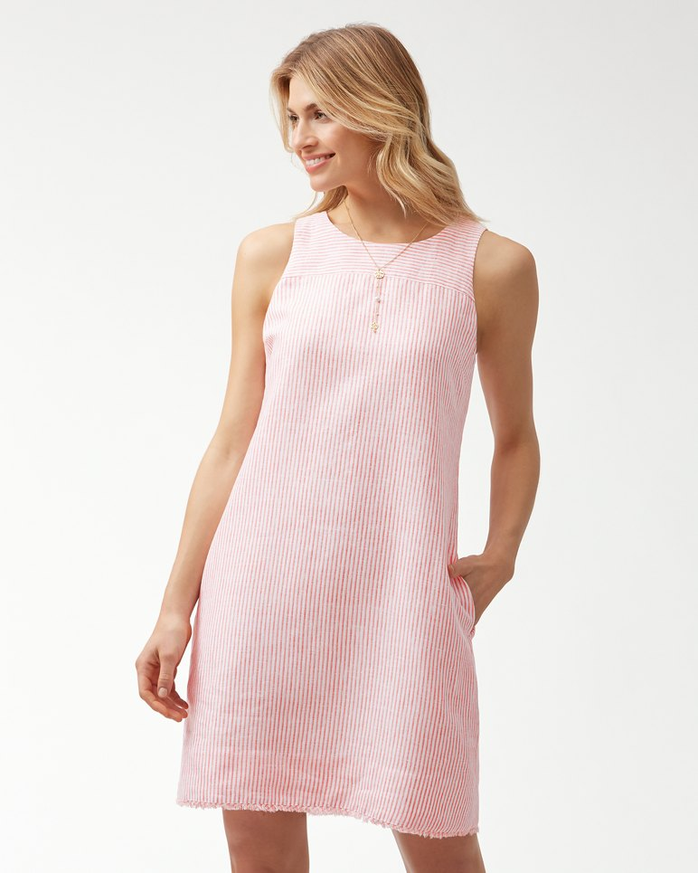 Main Image for Crystalline Waters Linen Shift Dress