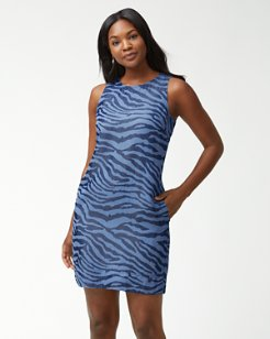 Zeb-Ra-Taunt Chambray Dress
