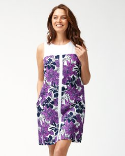 Blissful Blooms Linen-Blend Shift Dress