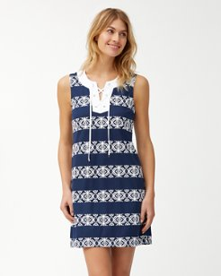 Bungalow Geo Stripe Shift Dress