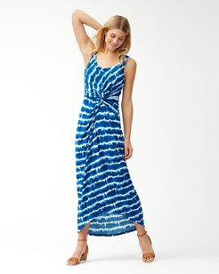 Oliana Stripe Tambour Maxi Dress