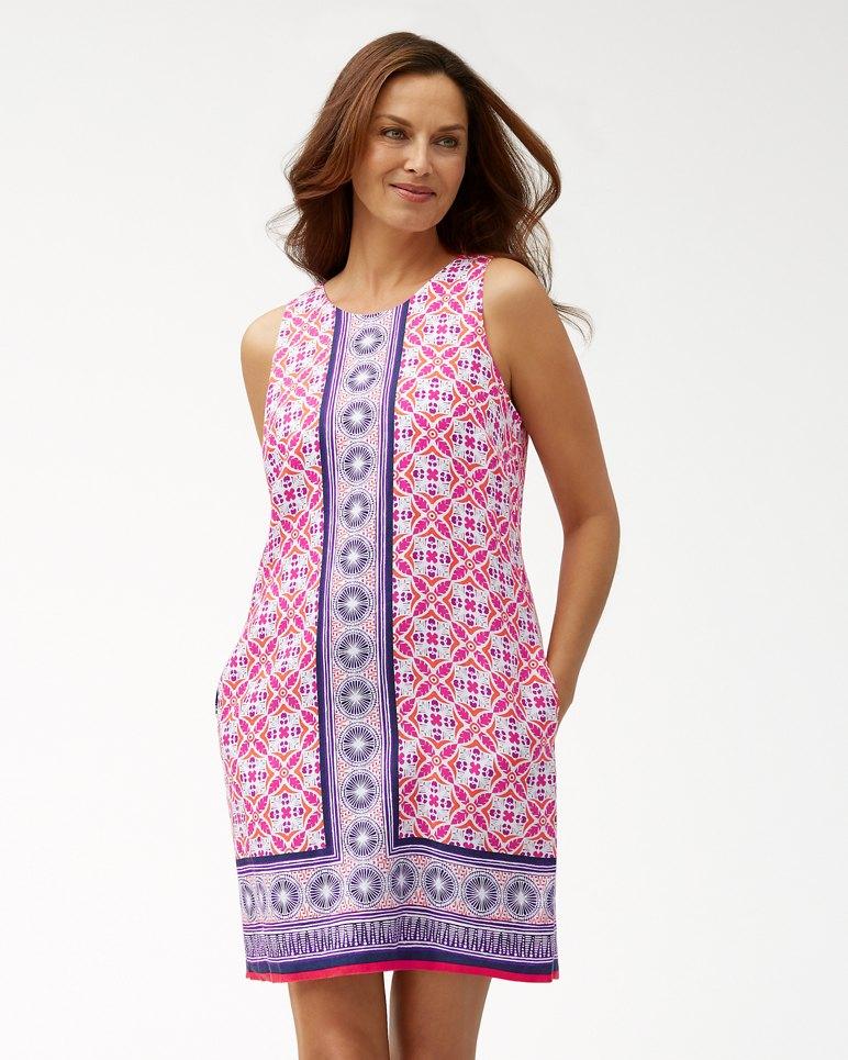 Main Image for Tropical Terrazza Linen Shift Dress