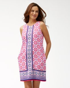e6f870305f Tropical Terrazza Linen Shift Dress