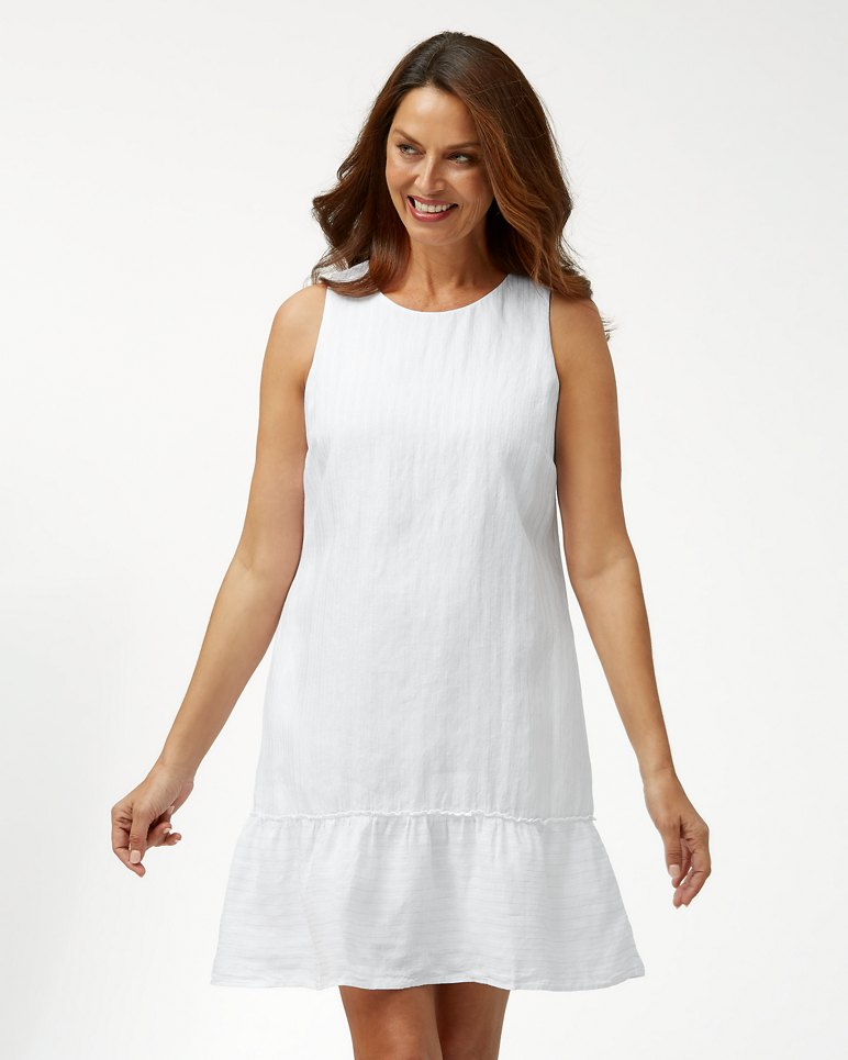 Main Image for Shimmer Stripe Linen-Blend Dress