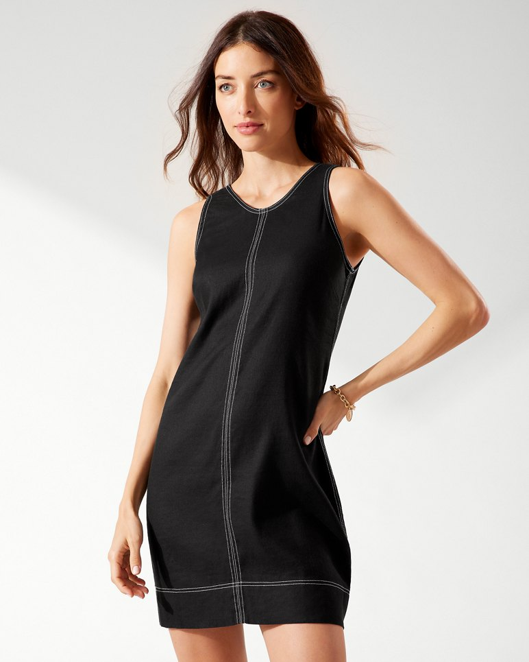 Main Image for Palm-A-Dora Stretch-Linen Sheath Dress