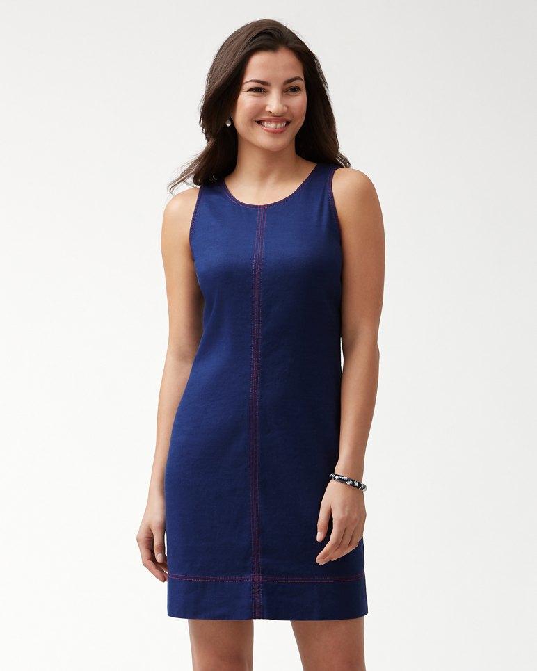 Main Image for Palm-A-Dora Stretch-Linen Sheath Dress