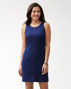 Palm-A-Dora Stretch-Linen Sheath Dress