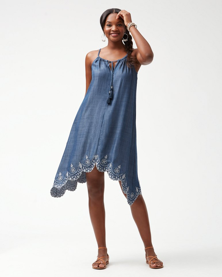 Main Image for Chambray All Day Embroidered Dress