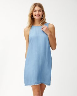 Chambray All Day Shift Dress