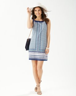 Geo Mesa Shift Dress