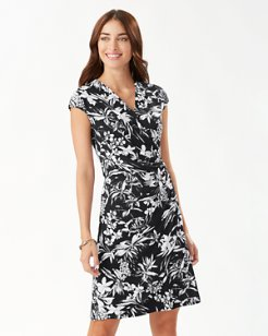 Floriana Tambour Wrap Dress
