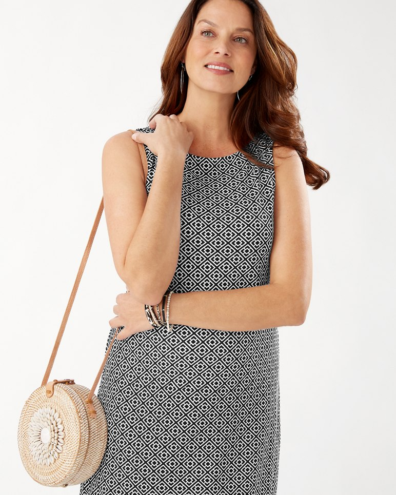 Main Image for Geo Breeze Drapey Ponte Sleeveless Dress