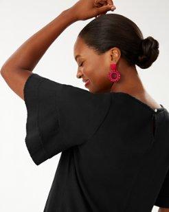Lanailette Flutter Sleeve Shift Dress