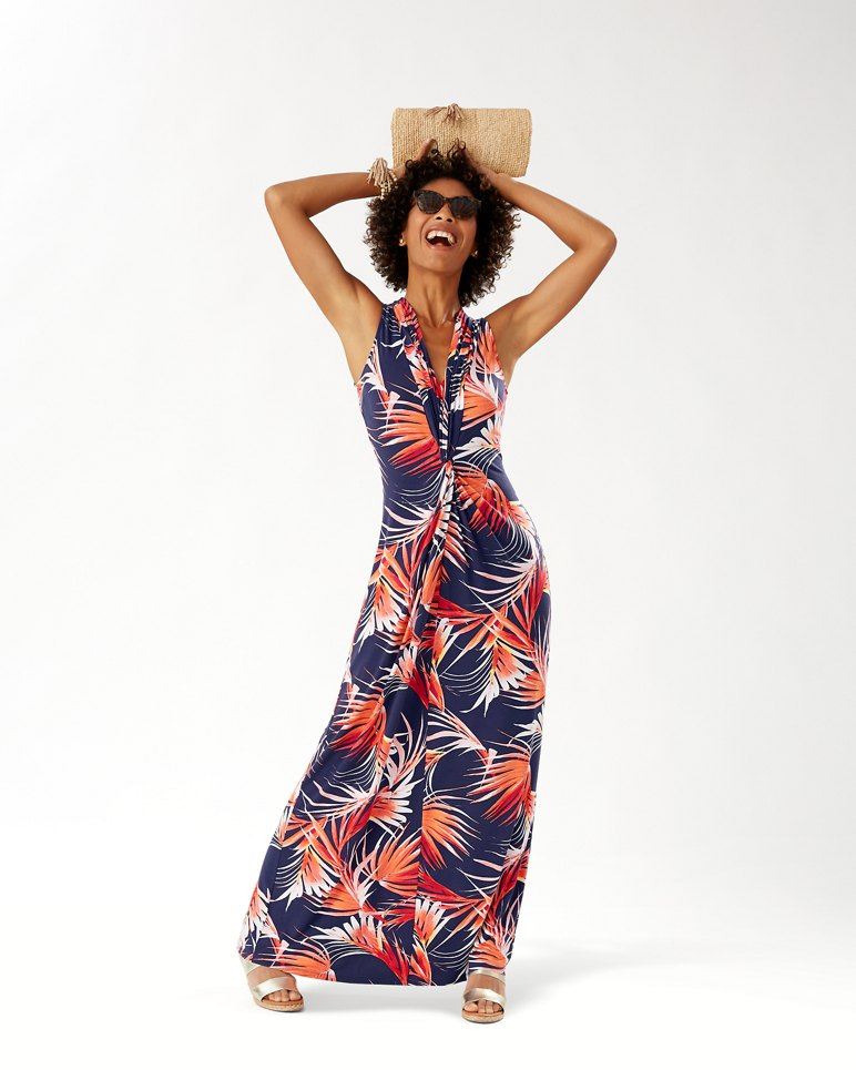 Main Image for Fireworks Fronds Tambour Maxi Dress