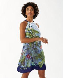 Garden Oasis Halter Dress