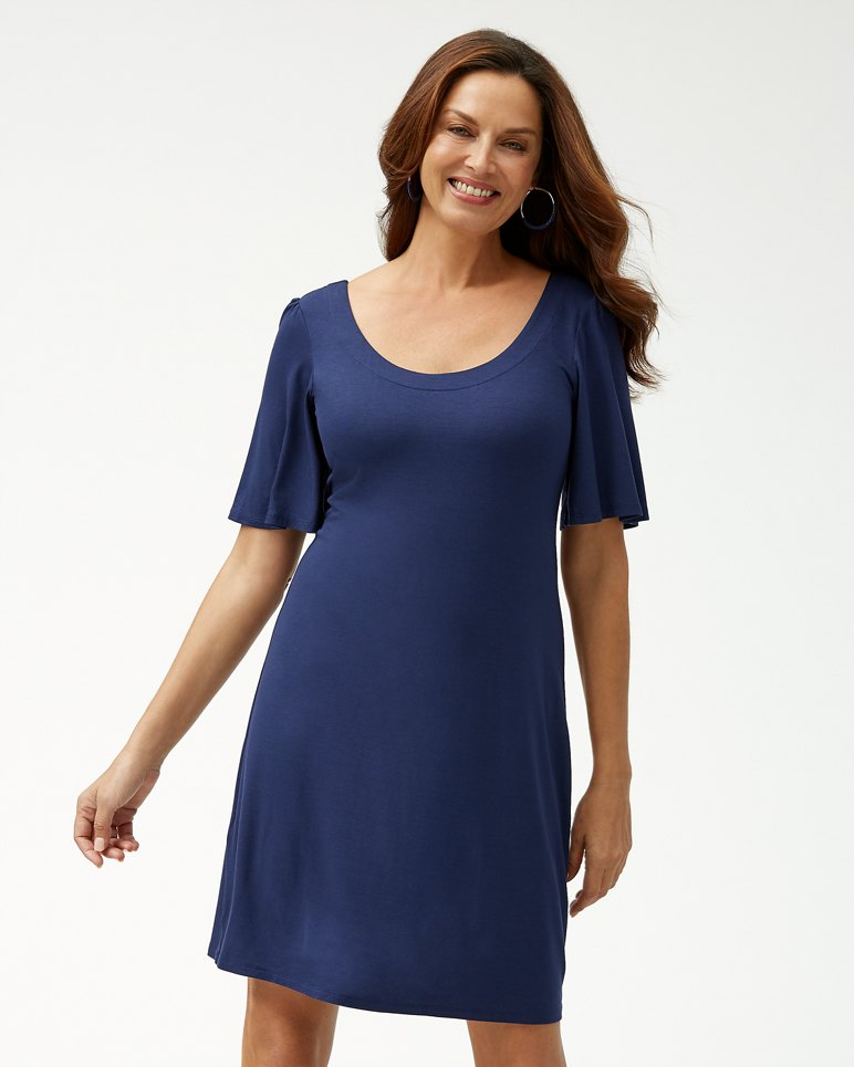 Main Image for Tambour Flounce-Sleeve Dress