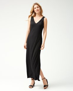 Tambour Sleeveless Maxi Dress