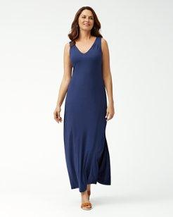 Tambour Sleeveless Maxi Dress