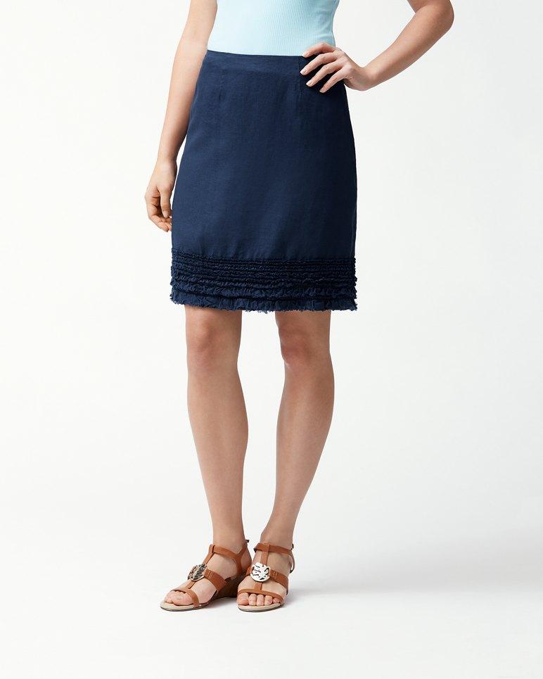 Two Palms Ruffle Linen Skirt