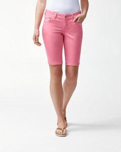 Afton Denim 11-inch Bermuda Shorts