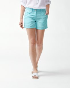 Sea Glass 5-Inch Linen Shorts
