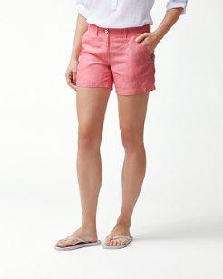 Sea Glass 5-Inch Linen Shorts