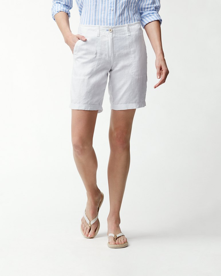 Main Image for Sea Glass 10-Inch Linen Bermuda Shorts